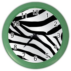 White Tiger Skin Color Wall Clocks by BangZart