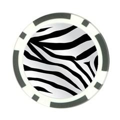 White Tiger Skin Poker Chip Card Guard
