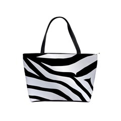 White Tiger Skin Shoulder Handbags