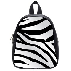 White Tiger Skin School Bags (small)  by BangZart