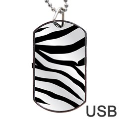 White Tiger Skin Dog Tag Usb Flash (two Sides)