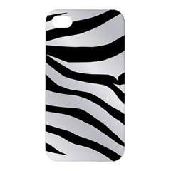 White Tiger Skin Apple Iphone 4/4s Hardshell Case by BangZart