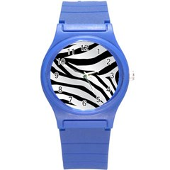 White Tiger Skin Round Plastic Sport Watch (s) by BangZart