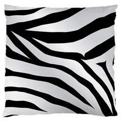 White Tiger Skin Large Cushion Case (two Sides) by BangZart