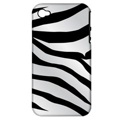 White Tiger Skin Apple Iphone 4/4s Hardshell Case (pc+silicone) by BangZart