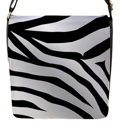 White Tiger Skin Flap Messenger Bag (s)