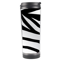 White Tiger Skin Travel Tumbler by BangZart