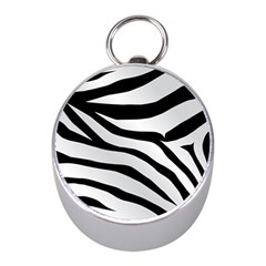 White Tiger Skin Mini Silver Compasses by BangZart