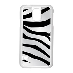 White Tiger Skin Samsung Galaxy S5 Case (white)