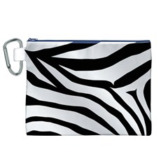 White Tiger Skin Canvas Cosmetic Bag (xl) by BangZart