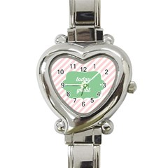 Today Will Be Great Heart Italian Charm Watch by BangZart