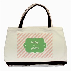 Today Will Be Great Basic Tote Bag (two Sides)