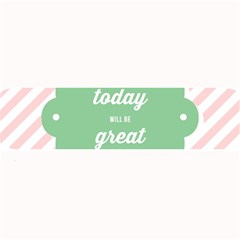 Today Will Be Great Large Bar Mats by BangZart