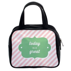 Today Will Be Great Classic Handbags (2 Sides) by BangZart