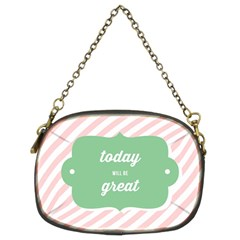 Today Will Be Great Chain Purses (two Sides)