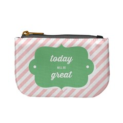 Today Will Be Great Mini Coin Purses by BangZart