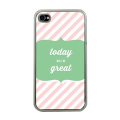 Today Will Be Great Apple Iphone 4 Case (clear) by BangZart