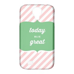 Today Will Be Great Samsung Galaxy S4 Classic Hardshell Case (pc+silicone)