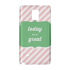 Today Will Be Great Samsung Galaxy Note 4 Hardshell Case by BangZart