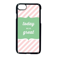 Today Will Be Great Apple Iphone 7 Seamless Case (black) by BangZart