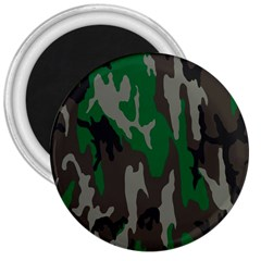 Army Green Camouflage 3  Magnets by BangZart