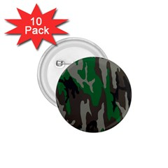 Army Green Camouflage 1 75  Buttons (10 Pack) by BangZart