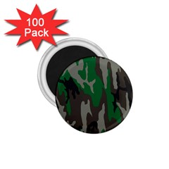 Army Green Camouflage 1 75  Magnets (100 Pack)  by BangZart