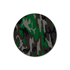 Army Green Camouflage Rubber Coaster (round)  by BangZart