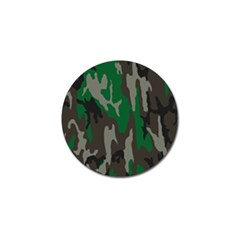 Army Green Camouflage Golf Ball Marker by BangZart