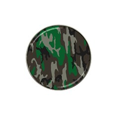 Army Green Camouflage Hat Clip Ball Marker (4 Pack) by BangZart