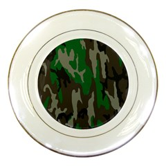 Army Green Camouflage Porcelain Plates by BangZart
