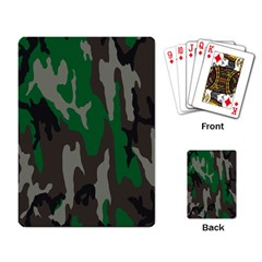 Army Green Camouflage Playing Card by BangZart