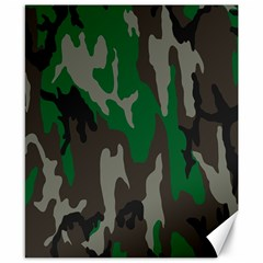 Army Green Camouflage Canvas 8  X 10  by BangZart