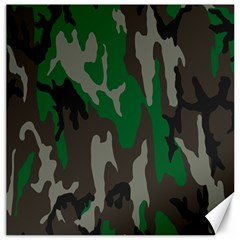 Army Green Camouflage Canvas 16  X 16