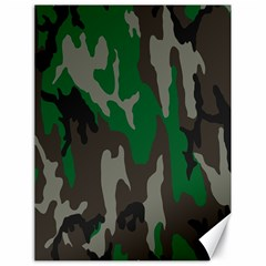 Army Green Camouflage Canvas 18  X 24   by BangZart