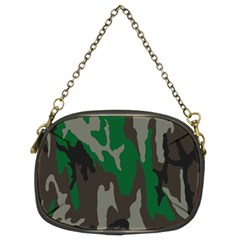 Army Green Camouflage Chain Purses (two Sides)  by BangZart