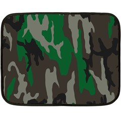 Army Green Camouflage Double Sided Fleece Blanket (mini)  by BangZart