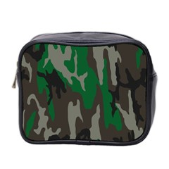 Army Green Camouflage Mini Toiletries Bag 2 Side