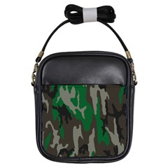 Army Green Camouflage Girls Sling Bags by BangZart