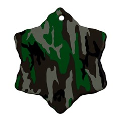 Army Green Camouflage Ornament (snowflake)