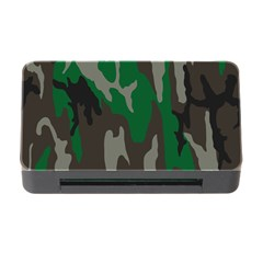 Army Green Camouflage Memory Card Reader With Cf