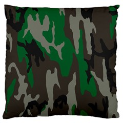 Army Green Camouflage Large Cushion Case (one Side) by BangZart