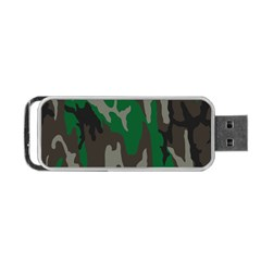 Army Green Camouflage Portable Usb Flash (one Side) by BangZart