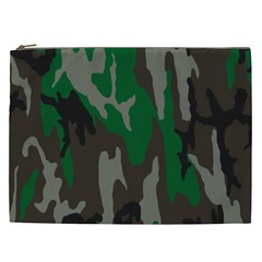 Army Green Camouflage Cosmetic Bag (xxl)  by BangZart