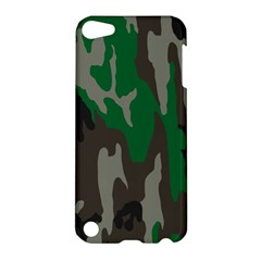 Army Green Camouflage Apple Ipod Touch 5 Hardshell Case by BangZart