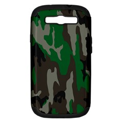 Army Green Camouflage Samsung Galaxy S Iii Hardshell Case (pc+silicone)