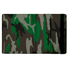 Army Green Camouflage Apple Ipad 3/4 Flip Case by BangZart