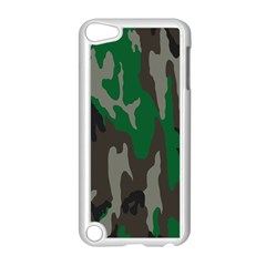 Army Green Camouflage Apple Ipod Touch 5 Case (white) by BangZart