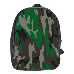 Army Green Camouflage School Bags (xl)  by BangZart