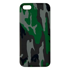 Army Green Camouflage Apple Iphone 5 Premium Hardshell Case by BangZart
